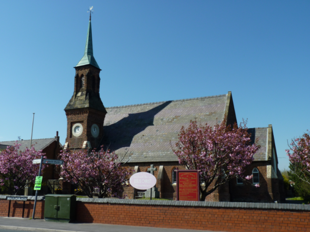 Banks Saint Stephen's Church on a blue sky day