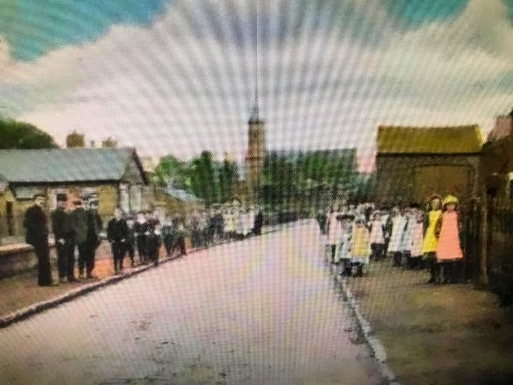 Hoole Lane, Banks, with pupils from St Stephen's School