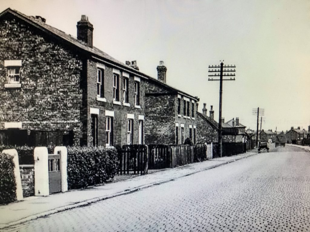 Church Road in 1955 with the cobbles